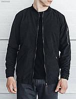 Мужской черный бомбер (куртка) Staff bomb black