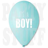 Шарики для новорожденных It's a boy голубые 12' (30 см) 100 шт