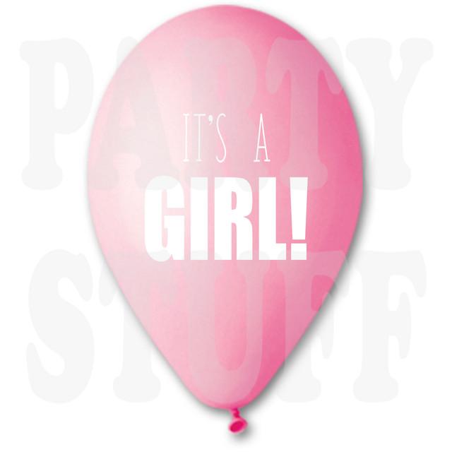 надувные шары its a girl розовые