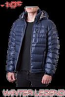 Мужской пуховик куртка синяя Ajento 339K