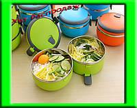 Термо ланч - бокс Easy lock 2,1 литра контейнер для еды из нержавеющей стали