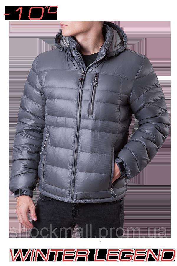 942c69bad6c1 Пуховик куртка легкая серая Winter Legend 339M - Интернет магазин ShockMall  в Киеве