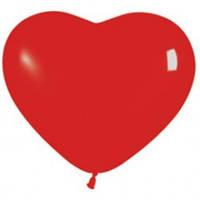 Воздушные Шарики сердце 26 см 100 шт красный