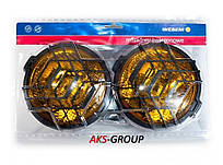 Фары дальнего света Ø 160 мм Wesem HO1.06916 галогенных желтых с решеткой
