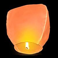 Небесные фонарики Купол ,1 метр оранжевый