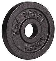 Диск 1,25 кг металлический Hop-Sport блины