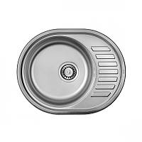 Мойка кухонная 5745 врезная Ula декорированная 0,8 мм глубина 18 см Бесплатная доставка