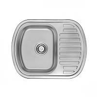 Мойка кухонная 63*49 врезная Ula декорированная 0,8 мм глубина 18 см Бесплатная доставка