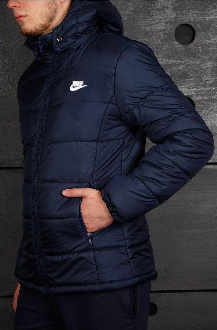 dee309ee Мужская зимняя куртка/пуховик найк/Nike, синяя реплика: продажа ...