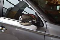 Хром накладки на зеркала Mercedes-Benz Viano W639 2010-2014 с вырезом под повороты (хромированный пластик)
