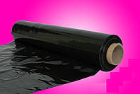 Черная стрейч-плёнка 3кг 23 мкм прочная Польша (от 5 шт.)