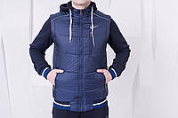 Мужская спортивная куртка/жилет осень-зима найк/Nike, синяя