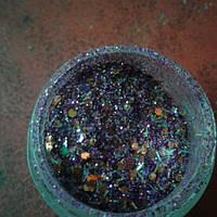 Микс для дизайна ногтей фиолетовый с чешуей