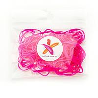 Резиночки для волос маленькие силиконовые малиновые