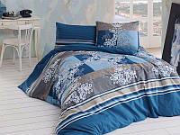 Евро комплект постельного белья First Choice 05-FLOORENZA PETROL