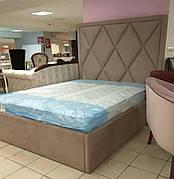 """Кровать """"Аморе"""" с мягким изголовьем любой формы"""