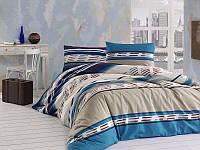 Евро комплект постельного белья First Choice 15-COLIN MAVI