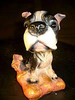 Собачка Бульдог 18 см. фигурка, сувенир