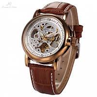 Механические мужские наручные часы KS Skeleton