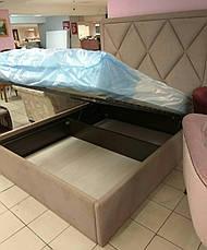 """Кровать """"Аморе"""" с мягким изголовьем любой формы, фото 3"""