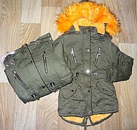 Куртка зимняя для девочек оптом S&D 8-16 лет. № KF66