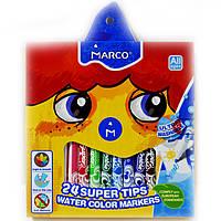 Фломастеры Marco 24 цвета Super Washable