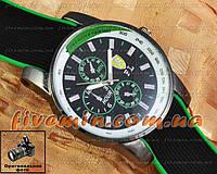 Мужские наручные часы Ferrari Quartz Ruber Tachymeter Green кварцевые модный стиль