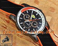Мужские наручные часы Ferrari Quartz Ruber Tachymeter Orange кварцевые модный стиль