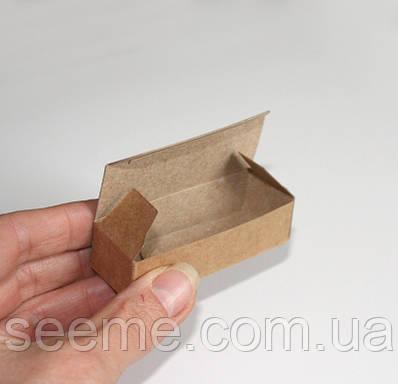 Коробка из крафт картона, 70х25х18 мм