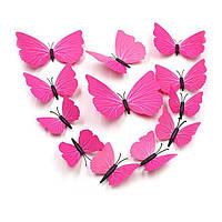 Яркие 3D бабочки для декора 12 штук.