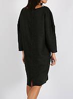 Платье из 100% льна чёрного цвета, фото 1