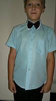 Рубашка детская, мальчик, короткий рукав, школа. Фирма EMREKO.