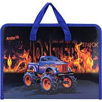 Папка портфель на молнии с тканевыми ручками Monster Truck