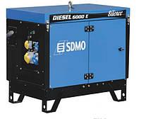 Дизельный генератор (электростанция) SDMO Diesel 6000 E Silence, 6,5 кВA/5,2 кВт, дв. Kohler KD 440, электростартер