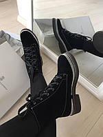 Зимние итальянские ботинки Brunello Cucinelli замша