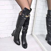 Сапоги ботфорты Moschino черные 3720, женская обувь осень