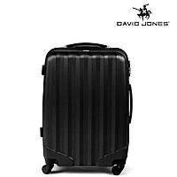 Дорожный чемодан из полипропилена на 4-х колесах (средний) David Jones черного цвета