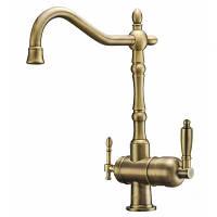 Смеситель для кухни с подключением фильтрованной воды Zorg ZR 326 YF 50 Bronze, фото 1