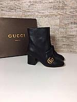 Шикарные женские ботинки Gucci натуральная кожа