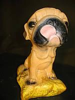 Собачка Мопс 18 см. Подарок, статуэтка.