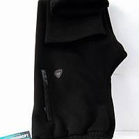 Тёплые спортивные штаны Soccer, хлопок 80%, прямые,чёрные, размеры 46, 48, 50, 52, 54.