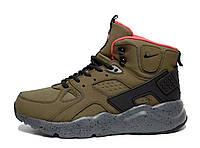 Зимние кроссовки Nike Huarache High Green