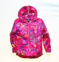 Детская демисезонная куртка для девочки 6-7 лет