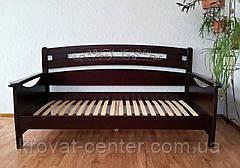 """Кровать полуторная """"Премиум"""". Массив - сосна, ольха, береза, дуб, фото 3"""