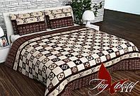 Комплект постельного белья ТМ TAG двухспальный, постельное белье двухспальное R-117