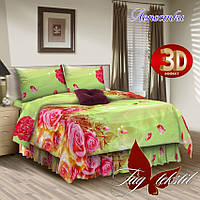 Комплект постельного белья ТМ TAG двухспальный, постельное белье двухспальное Лепестки (бязь)