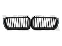 BMW 7 E38 94-98 черная матовая решетка центральная между фар радиаторная