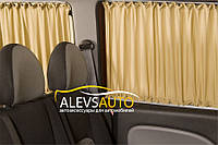 Шторы Ford Tourneo Custom 2014-  Бежевые