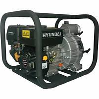 Бензиновая мотопомпа Hyundai HYT 80, 7 л.с, 917 л/мин, забор-8 м, подъем-25 м, 38 кг, для грязной воды