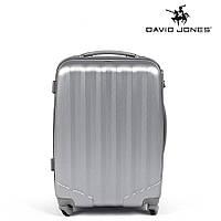 Дорожный чемодан из полипропилена на 4-х колесах (средний) David Jones серего цвета